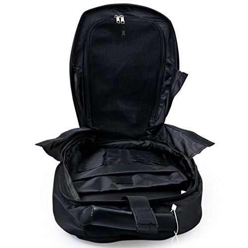 Marvel 3D Hardshell Backpack (Iron Man (LED Light)) by Mtime (Image #4)