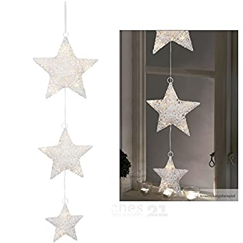 Matches21 Led Fensterbild Sternen Kette Fensterdeko Zum Aufhangen