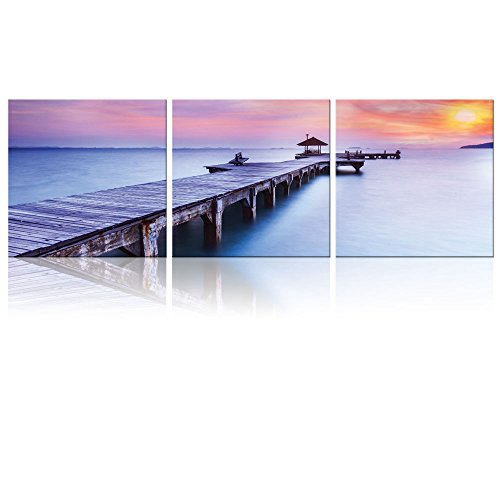 3 Square Panels Contemporary Art Beautiful Inspiring Calmness at Sunrise Three Gallery ped Printed Piece x3 Panels