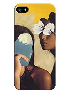 Cityshop DIY Creative Art Beautiful Girl Hark Skin Protective Case Cover for Iphone 5/5S(Abstract Girl with Covers)