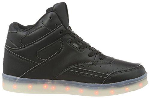 L.A. Gear Damen Flo Lights II High-Top Schwarz (black - wht outsole)