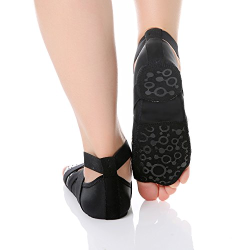 Nero con Punta Donna Balletto per Barre Rose Yoga Antiscivolo JOINFREE Scarpe Mezza Bellarina Pilates qwtHSSxXaO