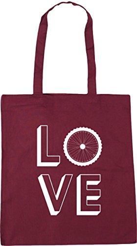 Burgundy Bag HippoWarehouse Shopping litres 42cm Gym Tote 10 Beach Love Cycling x38cm waaCx7ZqP