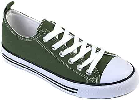 440b073988 Shop Pretty Girl Women's Sneakers Casual Canvas Shoes Solid Colors Low Top  Lace up Flat Fashion