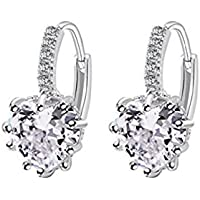 Charming Women's Sterling Silver Ear Hoop Earrings Ear Stud