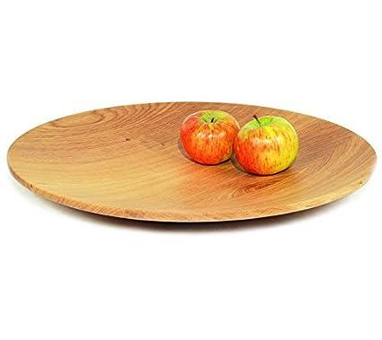 designimdorf Tavola Cuenco de madera de roble grande Diámetro 40 cm – Exclusivo Designer del producto