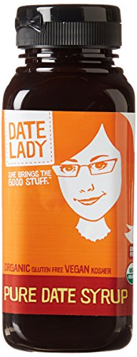Oatmeal 12 Ounce Bottle (Date Lady Date Syrup Organic Pure Squeeze Bottle, 12 oz)