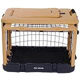 The Super Dog Crate Small 27'' tan/black