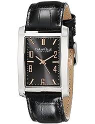 Caravelle New York Mens 45A134 Analog Display Analog Quartz Black Watch