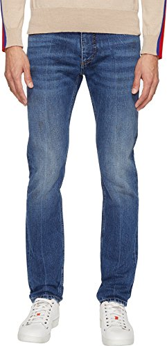Marc Jacobs Mens Skinny Leg Slim Fit 17 Jeans Indigo 50 (US 34) 33 33 Marc Jacobs Men Pants