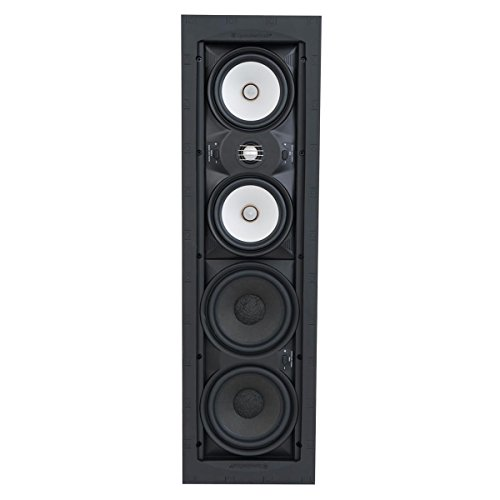 SpeakerCraft Profile AIM Cinema Three In-Wall Speaker with 1'' Pivoting Tweeter - Each (Black) by SpeakerCraft