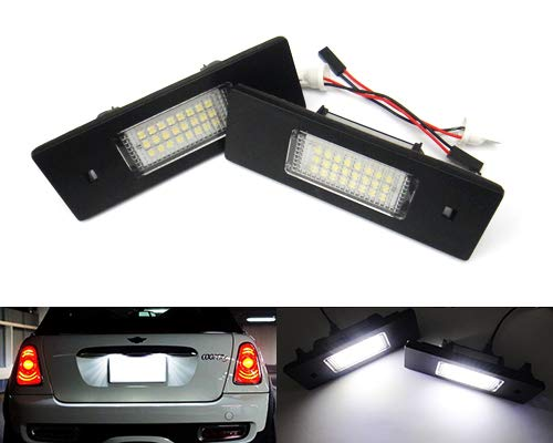 2x LED Licence Number Plate Light White Canbus For E81 E87 F20 E63 F12 Z4 Cooper Clubman Countryman AR GT 147 159 Spider Brera RZG