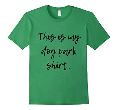 Mens This Is My Dog Park Shirt Small Grass