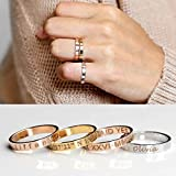 Same Day Shipping Before 12pm Mothers Day Gift Graduation Gift for Her Personalized Stacking Ring Stackable Rings Coordinates Ring Engraved Ring Personalized Ring Inspiration Ring Name Ring - R4