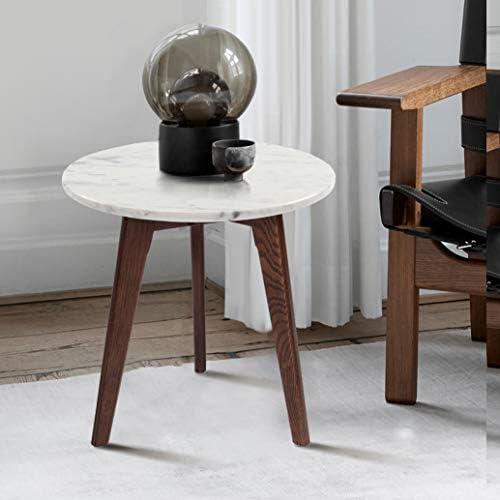 Cherie 15″ Round Modern Italian Carrara White Marble End Table