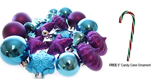 Holiday Time 20 Mini Shatterproof Christmas Ball Decoration with Free 6