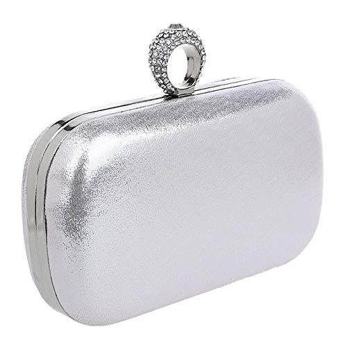 Mariage Clutch Solide Bague Gold Soirée D'embrayage Sac à Main Prom Bourse Diamants Pochette De Femme Couleur Fête Avec Sac 1ndwxvpBqq