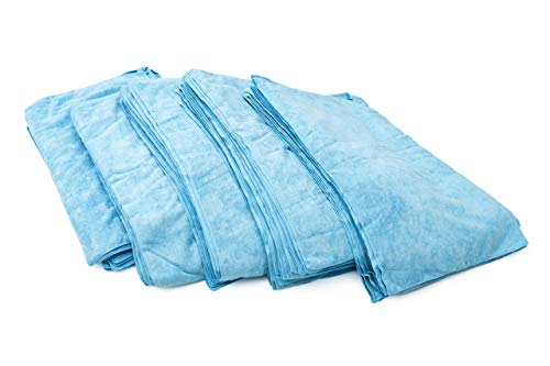 THE RAG COMPANY (125-Pack Full Case 16 inch x 27 inch CAR WASH Towel Professional 320 GSM Microfiber Auto Detailing and Drying Towels - Light Blue by THE RAG COMPANY (Image #4)