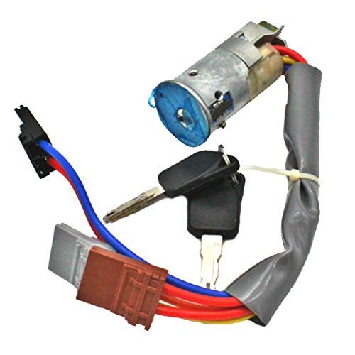 (Four Replacement for Peugeot 405 Peugeot 306 1993-2002 Ignition Switch Barrel Lock and 2 Keys 6 Pin)