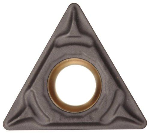 (Sandvik Coromant CoroTurn 111 Carbide Turning Insert, TPMT, Triangle, KF Chipbreaker, GC3215 Grade, Multi-Layer Coating, TPMT 1.2(1.2)1-KF, 5/32