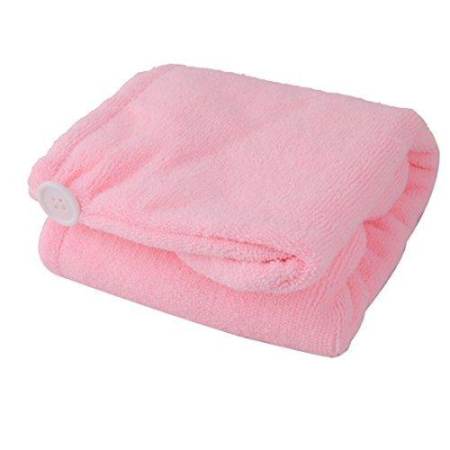 Secagem Cap DealMux Microfibra Banho Stretchy Chuveiro de banho cabelo Enrole toalha rosa Hat