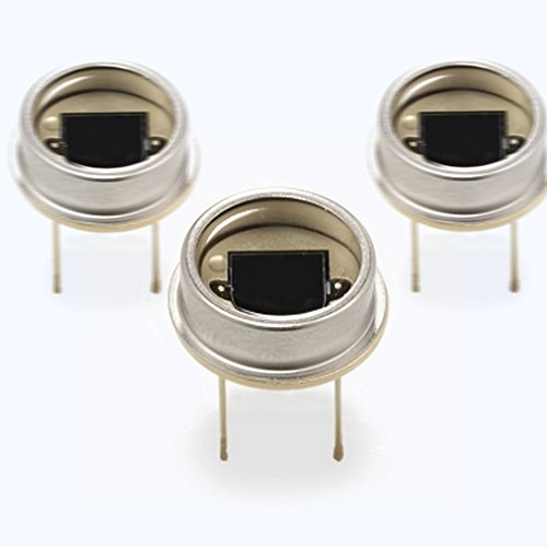 "2pcs of large area planar Silicon Photodiode in a dual lead TO-8 package with a UV transmitting ""flat"" window / OPTICAL SENSOR / OPTICAL DETECTOR by LONGXINDA TECH"