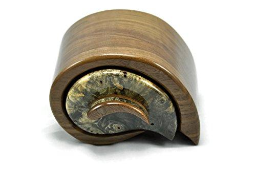 Jewelry Box in Walnut & Buckeye Burl by Artistry In Woodworking