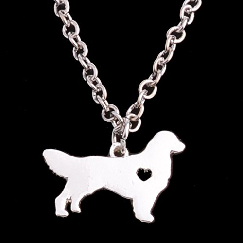 Dog Borzoi Necklace - Dog Pet Paw Prints Pendant Necklace Heart Leather Choker Jewelry All Paws Matter Silver Borzoi