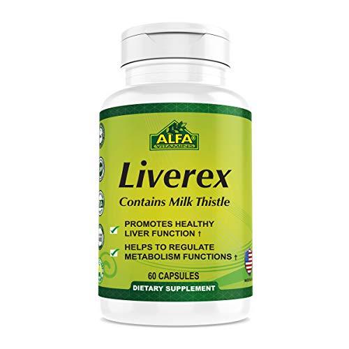Alfa Vitamins Liverex dietary supplement – Cleanser – Detoxifier – Nutritional Supplement to help support Liver…