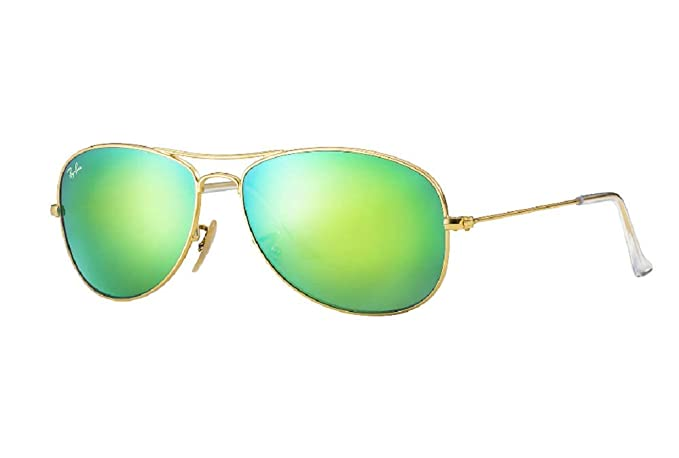 68d33bf091 Ray-Ban Unisex Cockpit RB3362 - Aviator 56mm Gold w  Green Lens Sunglasses