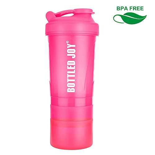BOTTLED JOY Protein Shaker Bottle 20 oz Shake Mixer Bottle