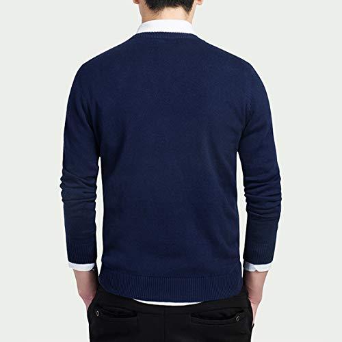 セーター メンズ 長袖 カーディガン Vネック ニット 細身 トップス 原宿風 日系 大きなサイズ 通勤 ビジネス 多色