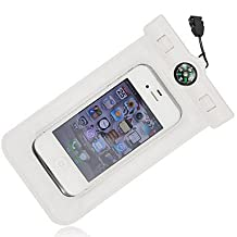 Compass Water Proof Diving Bag For iphone4 4s 5 5s Portable Outdoor WaterProof Pouch ( Color : White )