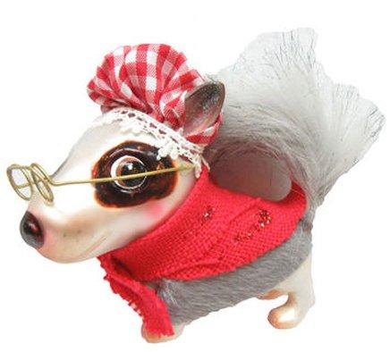 December Diamonds Blown Glass Ornament - Bull Terrier as ()