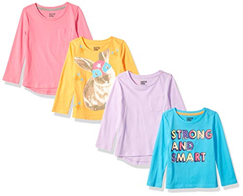 Spotted Zebra Big Girls' 4-Pack Long-Sleeve T-Shirts, Strong