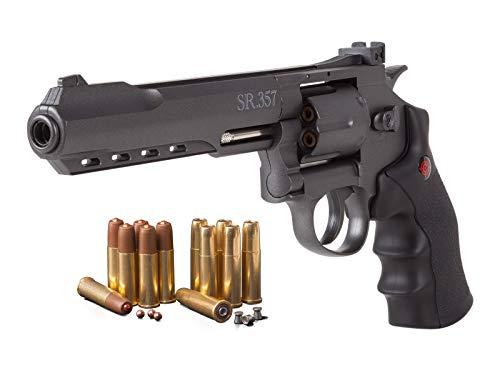 Ammo CO2 Revolver Kit, Black air pistol ()