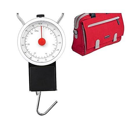 Balanza bascula con gancho de Múltiples Usos hasta 32KG perfecto viaje maleta equipaje mano y pesca con medidor analogico mws972: Amazon.es: Hogar