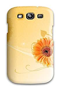 Top Quality Case Cover For Galaxy S3 Case With Nice Orange Flowers Appearance