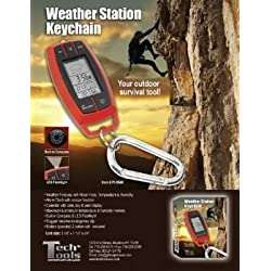 Princess International Inc. Travel Weather Forecast Keychain with Flashlight and Alarm Clock