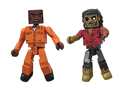 DIAMOND SELECT TOYS Walking Dead Minimates Series 3 Dexter and Dreadlock Zombie Action Figure -