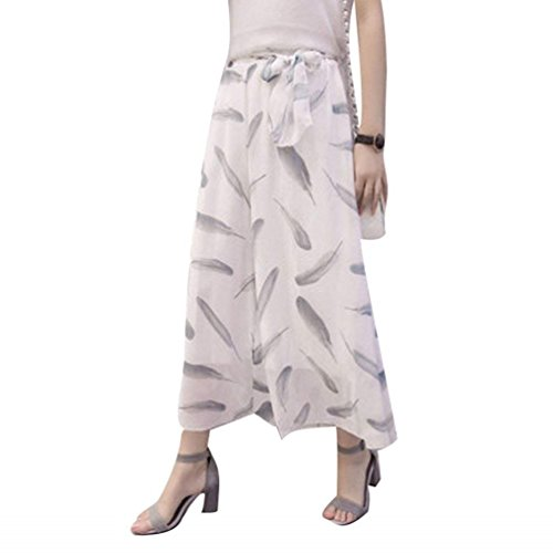 37f9d2d2f7672 Cintura Tiempo Cinturón Ropa Flores 2 Fashion Niñas Anchos Verano Palazzo  Mujer Falda Pantalon Culotte Alta Patrón De Con Libre Chiffon Colour  Pantalones ...