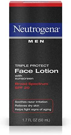 Facial Moisturizer: Neutrogena Men Triple Protecting Face Lotion