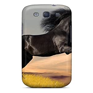 New Arrival Animals Horses Silky Racer UaPmisG49vbmhr Case Cover/ S3 Galaxy Case
