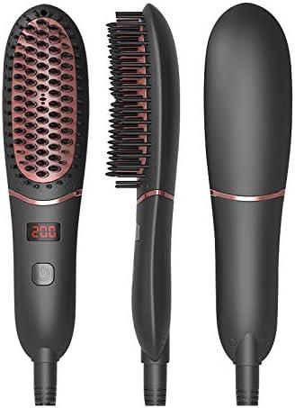 SOFIT Cepillo Alisador de pelo Iónico Eléctrico de Pelo Plancha Portátil y rizador de Pelo, Hombres Barba Peine, LED Display MCH Calentamiento de Cerámica Antiestático Antiquemaduras: Amazon.es: Belleza