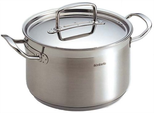 Brabantia Favourite NonStick Stainless Steel Casserole with Lid 7.9 inches - 3.5 Litre