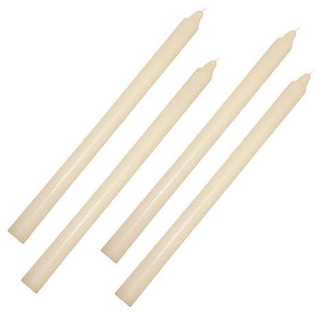 zeitzone Stabkerze Elfenbein-Wei/ß Durchgef/ärbt 30 cm Lang Tropffrei Premium