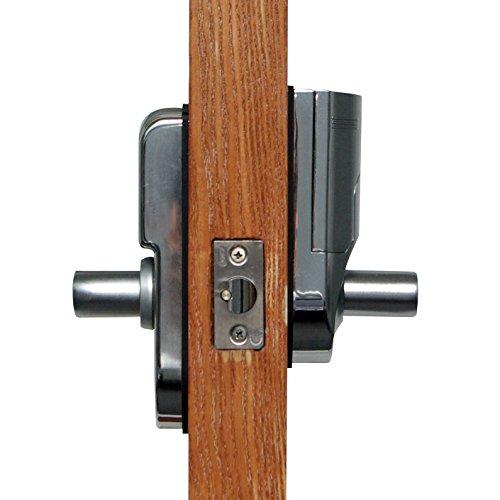 digi electronic biometric fingerprint keypad password door lock set intersected chrome 6600 86. Black Bedroom Furniture Sets. Home Design Ideas