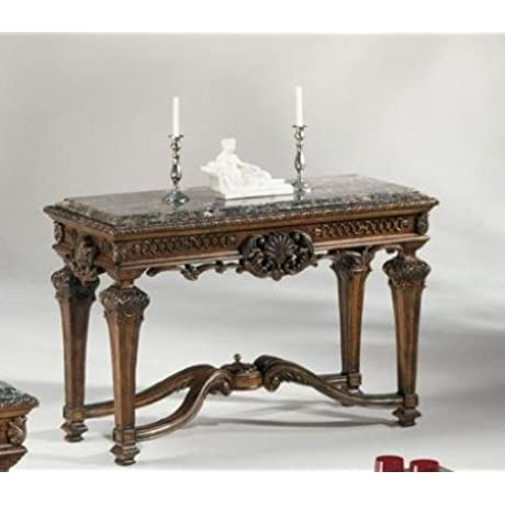Old World Style Sofa Console Table