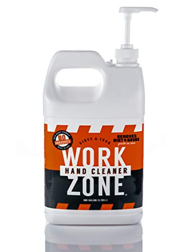 - Work Zone Industrial Hand Cleaner - One gallon bottle with pump. Specially formulated for construction workers & mechanics.