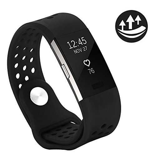 Yometome Fitbit Charge 2 Band Fashion Accessories Classic Edition Comfortable Replacement Strap for Fit bit Charge2 Sport Wristband for Girl and Boy With Breathable Holes